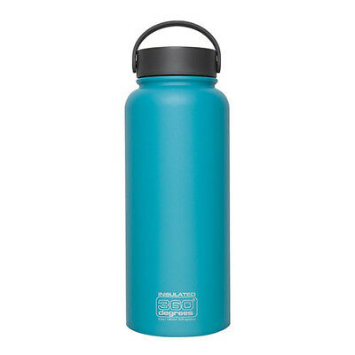 1L TEAL 360 Degrees Wide Mouth Stainless Steel Vacuum Insulated Bottle Flask
