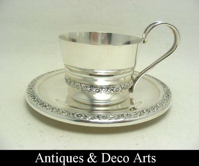Silver-plated Art Deco Cup & Saucer