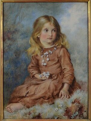 Very Fine Antique 19th Century Portrait Watercolour Painting
