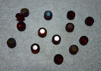 8x4mm ruby AB faceted Czech glass beads, 1 gross, Vintage LL917