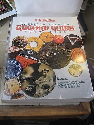 4Th Edition-American Premium Record Price Guide 1900-1965 Book By Les Docks