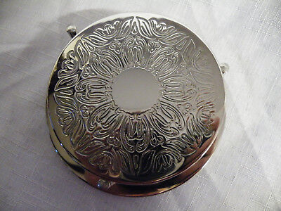 Set Of Six Vintage Silver Plated Drinks Coasters & Bottle Coaster