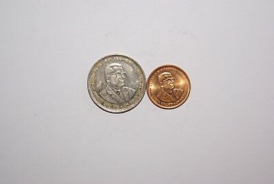 2 DIFFERENT COINS from MAURITIUS - 5 CENTS & 1 RUPEE (BOTH DATING 2004)