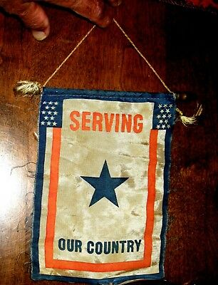 Wwii Us Door Display Serving Our Country Flag Banner