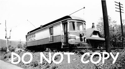 Hagerstown & Frederick Railway Car #164 at Thurmont, MD 8x10 B&W Photo