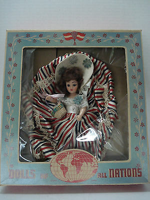 "Dolls Of All Nations Height 10"" Duchess Dolls Corp. N. York With Box Vintage"