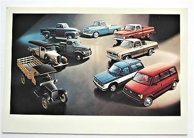 Vintage Chrome Chevrolet AD Chevy TRUCKS 1918-1985 Postcard