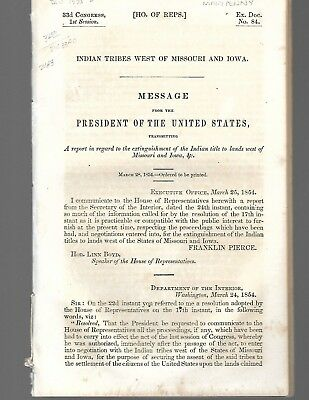 1854 Commissioner of Indian Affairs report-George Manypenny-Council Bluffs, Iowa
