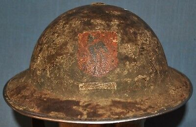 Nice WWII British Helmet, with Painted Formation Badge