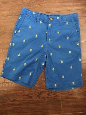 LANDS' END Boys Shorts bottoms bermuds cargo Age 9-10 yrs. blue. Pineapple .New