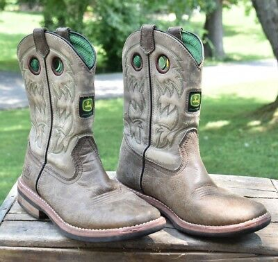 John Deere Boots Youth 6M Boys Boot Leather Vamp / Foxing Front Apparel