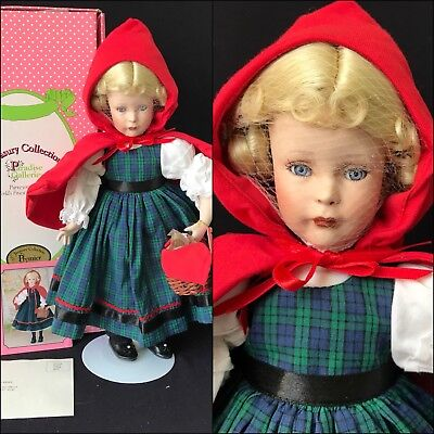 """14"""" Porcelain """"Little Red Riding Hood"""" By Patricia Rose, For Paradise Galleries,"""