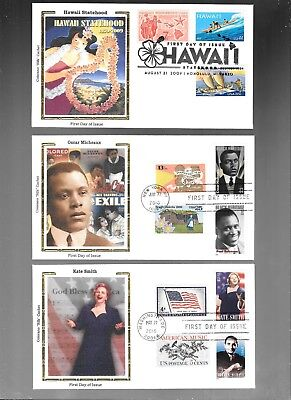 Us Fdc  Collection With Combo  2009 2010  Colorano Silk  Lot Of 4