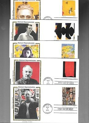 Us Fdc  # 4444  Abstract Art   2010  Colorano Silk  Set Of 10