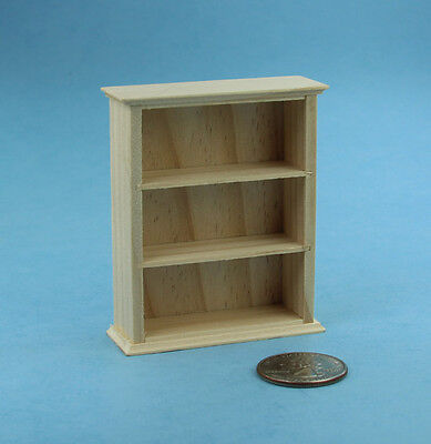 NICE 1:12 Scale Dollhouse Miniature Natural Wood Wall Shelves NEW #S2316