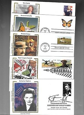 Us Fdc  Collection 2009 2010  Colorano Silk  Lot Of 30