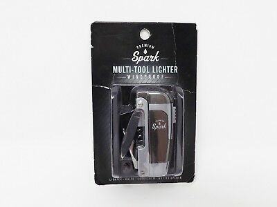 Premium Spark Multi-Tool Gray Windproof Lighter  - New