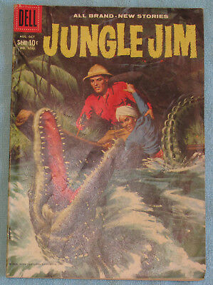 Jungle Jim Vanishing Gems Pirate Asia Afghanistan No 1020 Dell Comic Book 1959