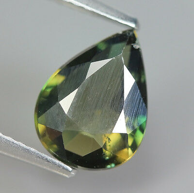 1.79 Ct Natural Unheated Greenish Yellow KORNERUPINE Pear Gem @ See Vide !!