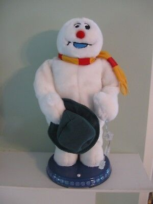 Gemmy SINGING ~ DANCING ~ SPINNING SNOWFLAKE ~ FROSTY THE SNOWMAN Works Perfect