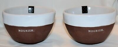 Rae Dunn Magenta CHOCOLAT NOURISH BOWLS Set 2 Soup Cereal Chocolate NEW FAB Dips