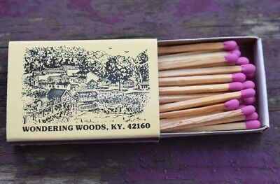 Wondering Woods Cave City Kentucky KY Rare Box of New Unused Matches Matchbox