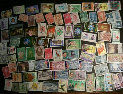 Philippines - 173 different stamps, nice collection with commemoratives (HS)