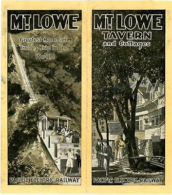 """Pacific Electric Ry 1929 brochure, """"Mt. Lowe Tavern and Cottages-Pacific Electr"""""""