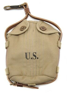 US WW1 M1910 Calvary Canteen Cover Khaki marked JT&L 1918
