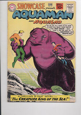 SHOWCASE #32 comic book/3rd Silver Age AQUAMAN story/55% OFF GUIDE!