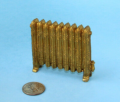 Dollhouse Miniature Decorative Antiqued Brass Heating Register/Radiator #SD2329
