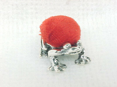 Charming Sterling Silver Estate Frog Sewing Pin Cushion No Reserve 6.5Gr