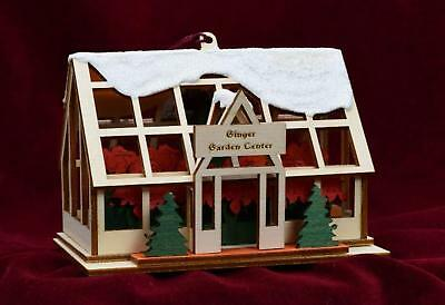 Ginger Cottages Holiday Greenhouse Garden Center  Ornament GC139