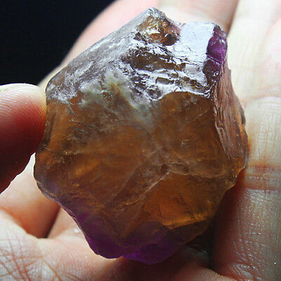 198.35Ct 100% Natural Purple & Yellow Ametrine Facet Rough Specimen YAE4831