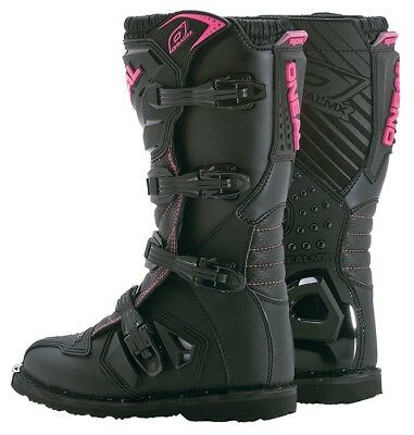Oneal Womens MX ATV Motocross Element Riding Black/Pink Boots Size 5