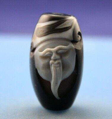 43*24 mm Antique Dzi Agate old Bead from Tibet **Free shipping**