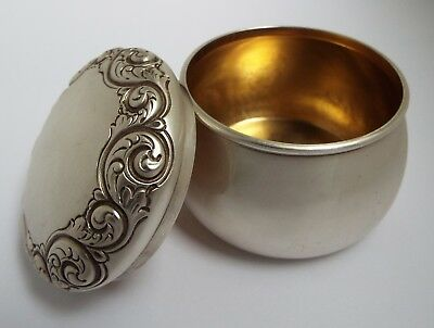 BEAUTIFUL CLEAN CONDITION ANTIQUE c.1910 SOLID STERLING SILVER TEA CANISTER BOX