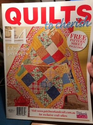 quilting magazine/book - QUILTS TO CHERISH - includes patterns - 14 projects