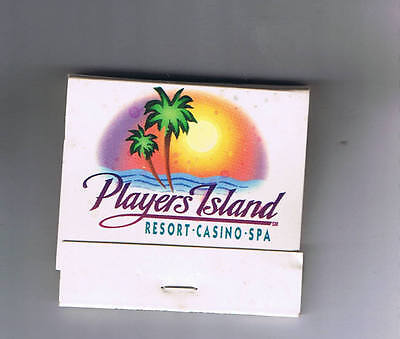 Players Island Resort Casino Spa Unused Matchbook Mesquite Nevada