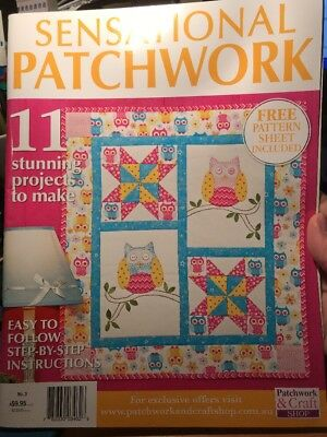 patchwork magazine/book - SENSATIONAL PATCHWORK - includes patterns, 11 projects