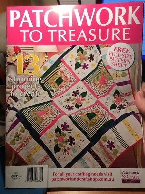 patchwork magazine/book - PATCHWORK TO TREASURE - includes patterns 13 projects