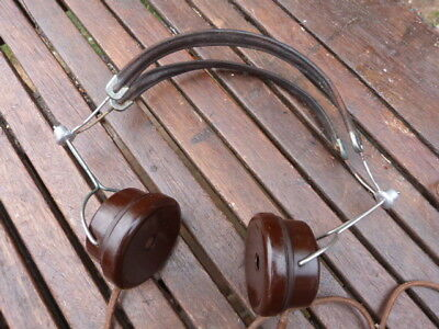 Lovely Set Of Vintage Bakelite & Metal Bbc Headphones By B T H .
