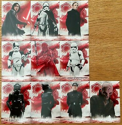 2018 Star Wars The Last Jedi Series 2 Soldiers of the First Order Set 10 cards