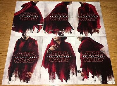 2018 Star Wars The Last Jedi Series 2 Teaser Posters Set 6 cards