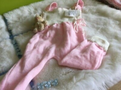 VINTAGE AUTHENTIC CLOTHING INFANT CHILDRENS BABY DUNGAREES 3 months 1970s UNUSED