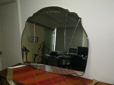 Antique Wall Mirror with Bevelled Edge in Excellent Condition
