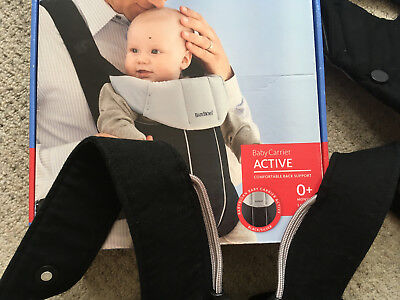 Baby Bjorn Original Active Carrier - Black and Grey - 0 Months+ 8 - 26 lbs