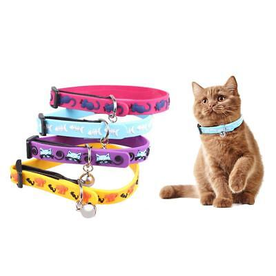 1/4pcs Dog Cat Collar Silicone Puppy Collar Tool with Bell ID Tag Pet Supplies