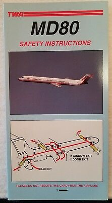 Trans World Airlines Twa - Safety Card - Md80 Pn4930 5/96