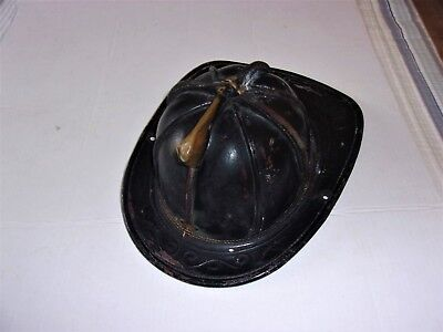 Good Vintage Cairns & Brothers Leather Firemen's Helmet - Clifton, New Jersey